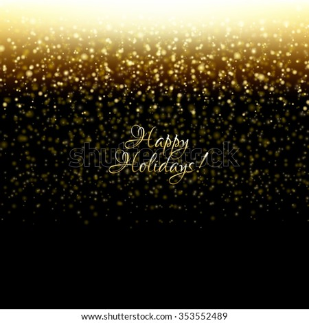 Happy Holidays Postcard With Gradient Mesh, Vector Illustration - stock vector