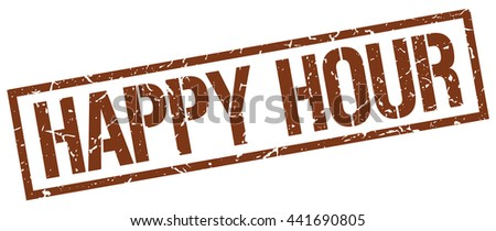 happy hour stamp.stamp.sign.happy.hour. - stock vector