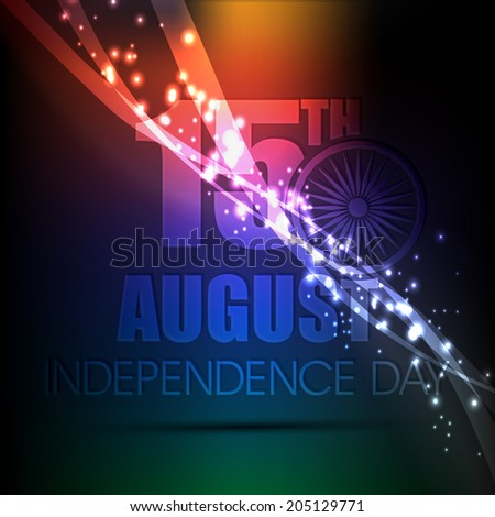Happy Independence Day of India concept illustration background Eps10 - stock vector