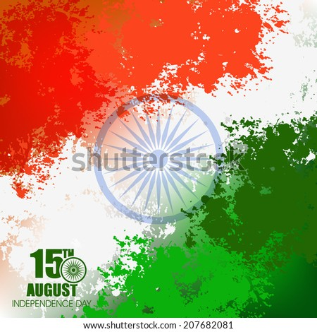 Happy Independence Day of India festival With Good Concept, Beautiful Greeting Card Design and Background Vector Illustration... - stock vector