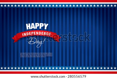 Happy independence day of the usa - stock vector
