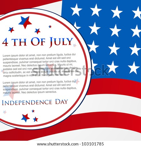 Happy Independence Day 4th of July abstract American flag  background and cards in vector format, EPS 10.  Can be use as banner, poster and flyer. - stock vector