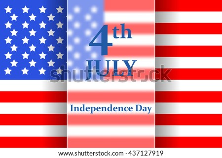 Happy Independence Day. 4th of July poster.  Vector illustration.  - stock vector