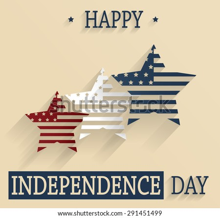 Happy Independence Day. 4th Of July. Red, white and blue stars. Vector illustration. - stock vector