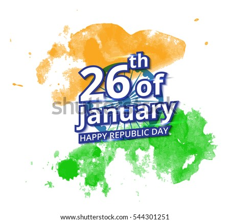 Happy indian republic day celebration on stock vector hd royalty happy indian republic day celebration on flag water color greeting card m4hsunfo