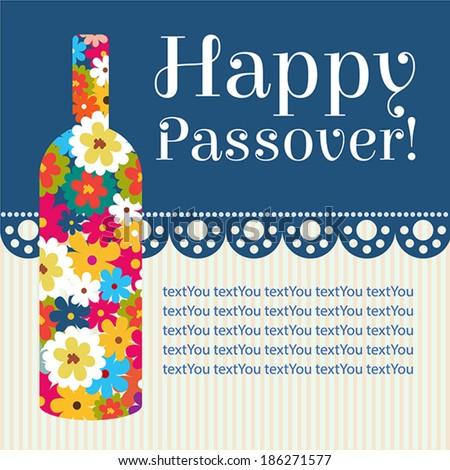 Happy jewish passover holiday greeting card stock vector royalty happy jewish passover holiday greeting card design m4hsunfo