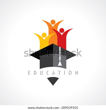 Happy kids, Education concept vector - stock vector