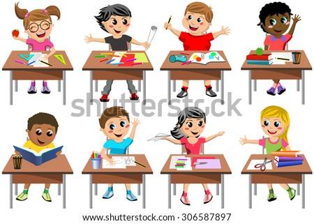 children desk illustration vector graphics vector vector and. Black Bedroom Furniture Sets. Home Design Ideas