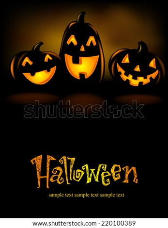 Happy  laughing Halloween lanterns, vector illustration.  - stock vector
