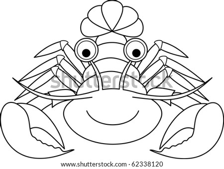 Happy Lobster - stock vector