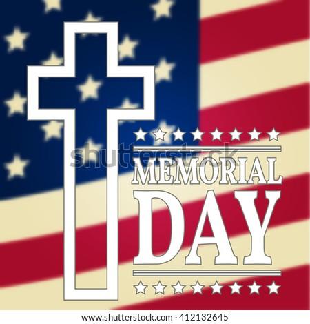 Happy Memorial Day greeting card. Vector illustration. - stock vector