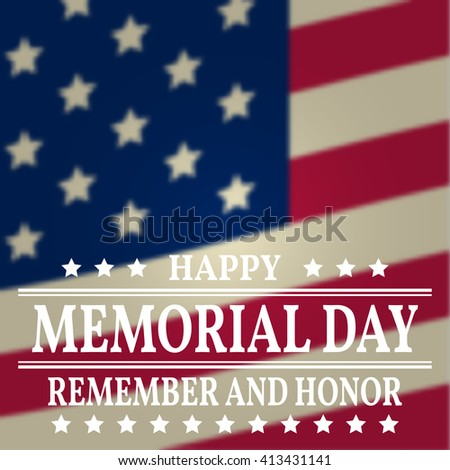 Happy memorial day greeting card vector stock photo photo vector happy memorial day greeting card vector illustration m4hsunfo Image collections