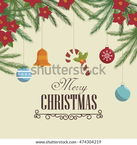 happy merry christmas icon vector illustration graphic