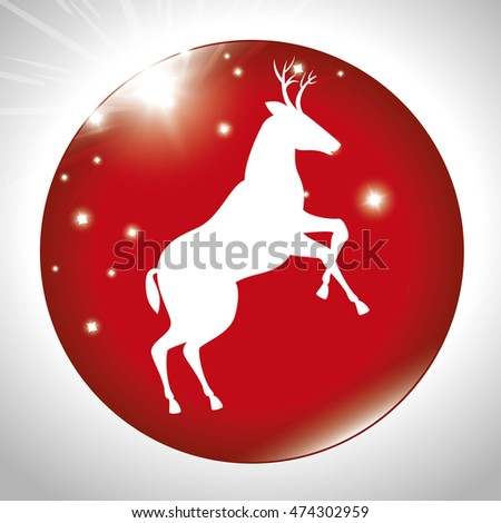 happy merry christmas icon vector illustration icon