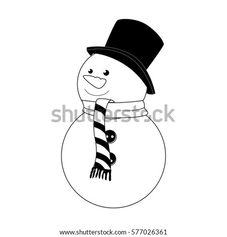 happy merry christmas snowman card