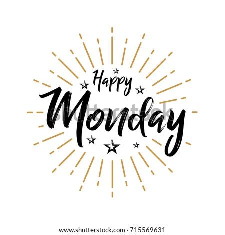 Happy monday fireworks today day weekdays stock vector hd royalty happy monday fireworks today day weekdays calender lettering handwritten voltagebd Gallery
