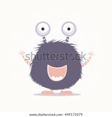 Happy Monster Illustration Monster Cartoon Stock ...