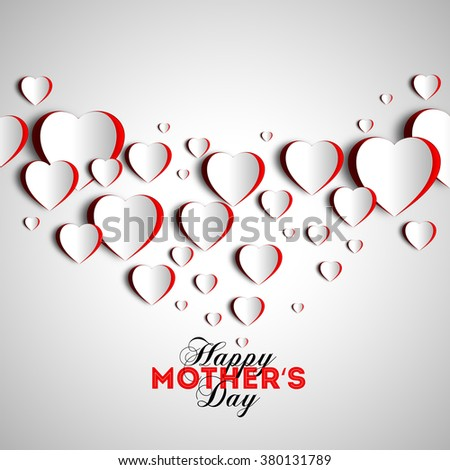 Happy mother day background, vector illustratio - stock vector