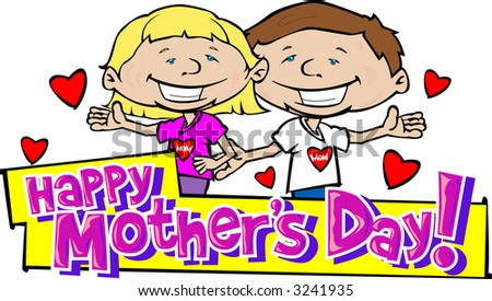 Happy Mother's Day 3 - stock vector