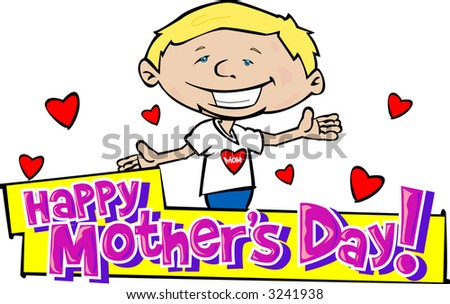 Happy Mother's Day 6 - stock vector