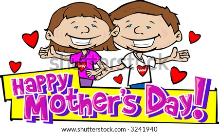 Happy Mother's Day 8 - stock vector