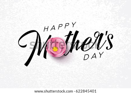Happy mothers day calligraphy flower backgroundvector stock vector