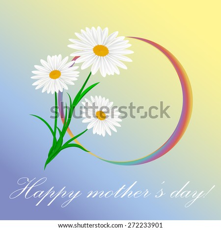 Happy mother's day card . Vector illustration