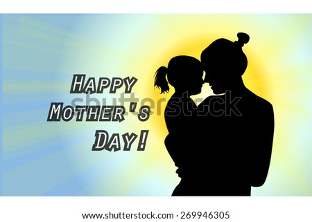 Happy Mother's Day. Vector
