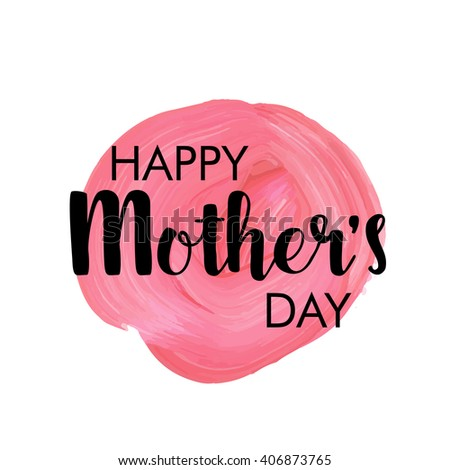 Happy mother`s day! vector greeting card - stock vector