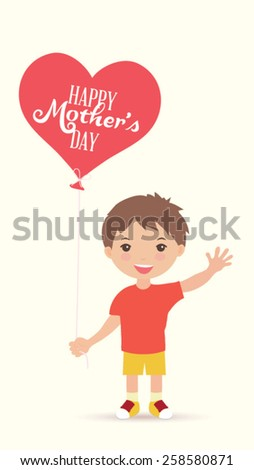 Happy Mother's Day. Vector illustration  - stock vector
