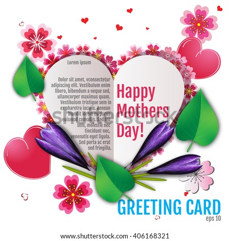 Happy Mothers Day background. Best greeting card and gift for Mothers Day. Happy mother day background, vector illustration with 3d effect - stock vector