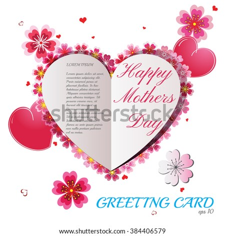 Happy Mothers Day background. Best greeting card and gift for Mothers Day! Mothers Day Vector. Mothers Day JPEG.  - stock vector