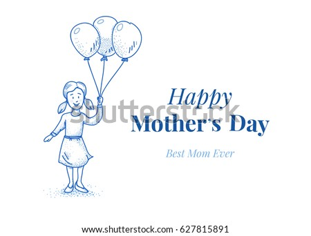 Happy Mothers Day Card Template Daughter Stock Vector HD Royalty - Free mother's day card templates