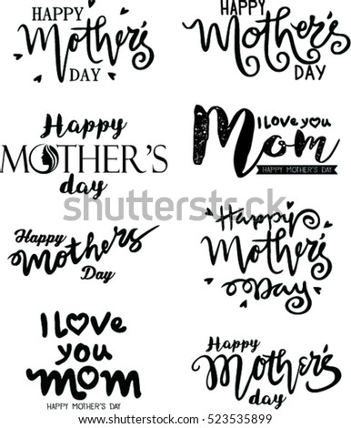 Happy Mothers Day lettering. Handmade calligraphy vector illustration.
