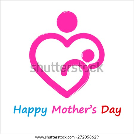 Happy Mothers Day, vector - stock vector