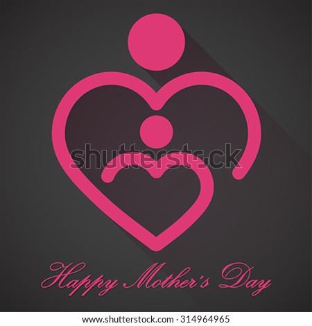 Happy Mothers Day, vector - stock vector