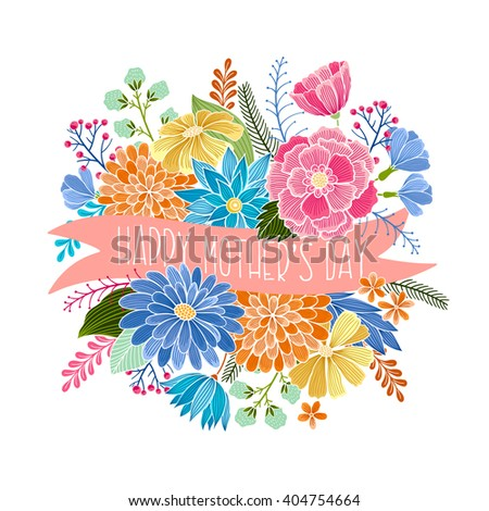 Happy mothers day vector floral card stock vector 404754664 happy mothers day vector floral card invitation save the date rsvp reception stopboris Images