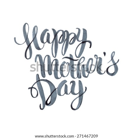 Happy Mothers's Day Watercolor Letteringl Background