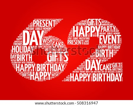 Happy 62nd birthday word cloud collage stock vector royalty free happy 62nd birthday word cloud collage concept m4hsunfo