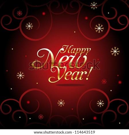 Happy New Year. - stock vector