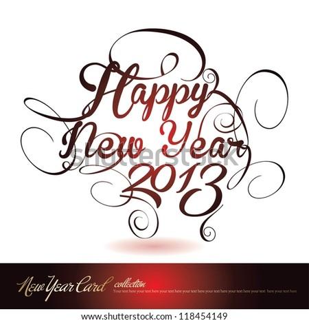 happy new year 2013 - stock vector