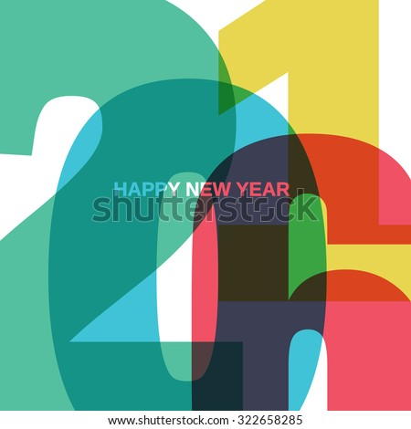 Happy New 2016 Year - stock vector