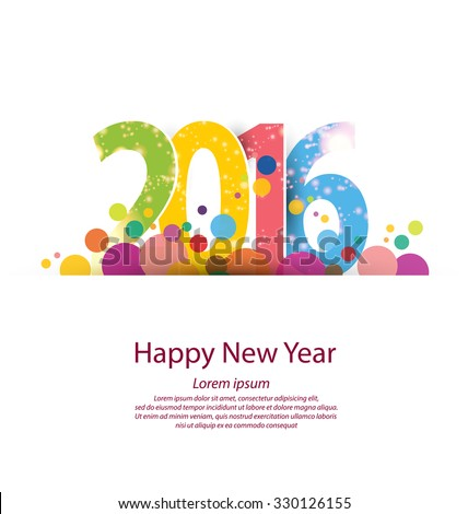 Happy new year 2016 - stock vector