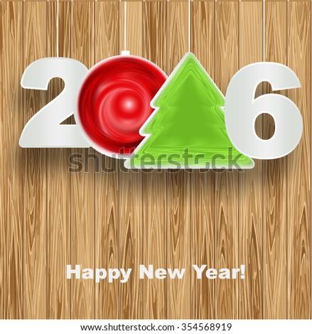 Happy New Year 2016 - stock vector