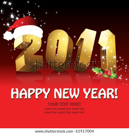 Happy new year 2011 - stock vector
