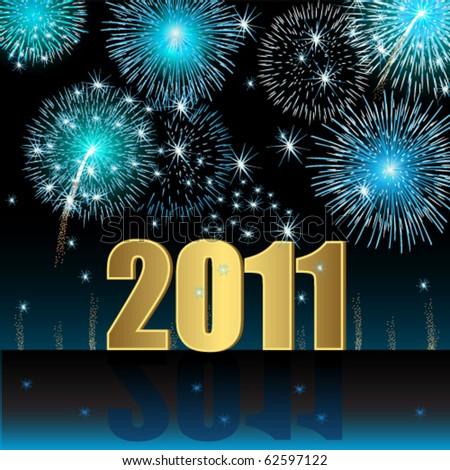Happy New Year 2011 - stock vector