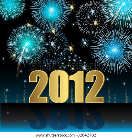Happy New Year 2012 - stock vector