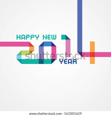 happy new year an illustration with colored numbers - stock vector