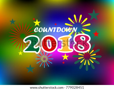 Happy New Year And Countdown 2018 On Abstract Background Card Wallpaper
