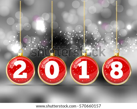 Happy New Year Merry Christmas 2018 Stock Vector 570660157 ...